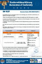 Konformität EN1527