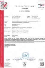 TÜF Zertifikat | EN795 / TS16415